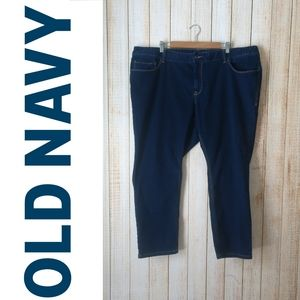 Old Navy Mid-Rise Power Slim Straight Jeans short